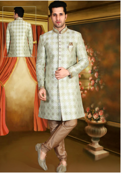Off White Color Designer New Indo Western Sherwani