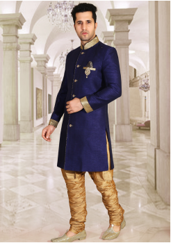 Navy  Blue Color Designer New Indo Western Sherwani