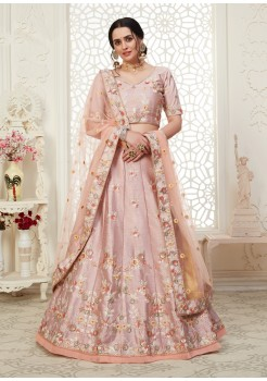 Cream  Color  Net with Banglori Silk inner with Cording,Thread & Sequence Embroidery