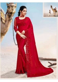 Red And Green Saree