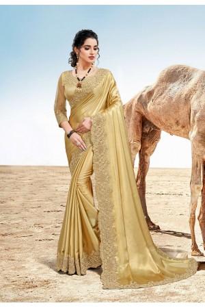 Cream Silk Saree