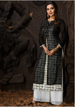 Black And White Color Designer Georgette Kurti