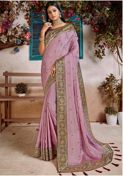 Light Purple Color Soft Silk Designer Saree