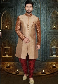 GOLD COLOUR INDO WESTERN SHERWANI