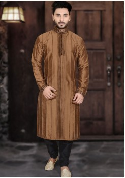 LIGHT BROWN MENS KURTA SET