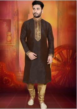 DARK BROWN MENS KURTA SET