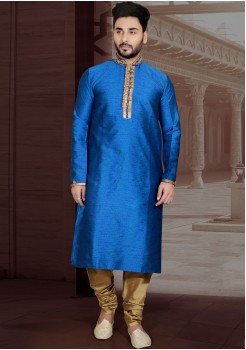 BLUE COLOR MENS KURTA SET