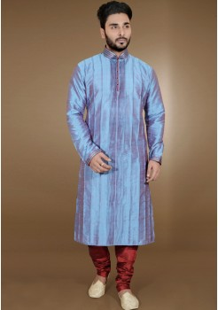 LIGHT BLUE MENS KURTA SET