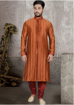 LIGHT BROWN COLOUR MENS KURTA SET