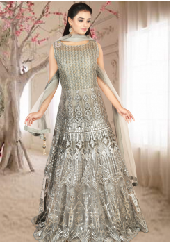 Pretty Grey Color Designer Gown