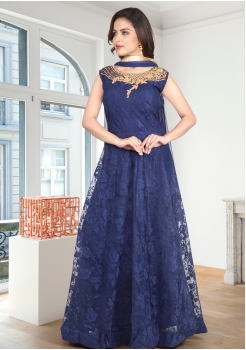 Blue Color Designer Gown