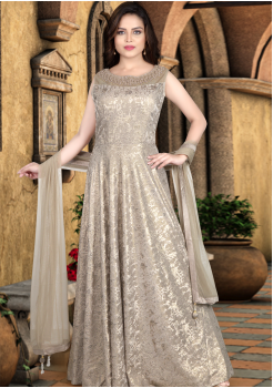 Light Gold Color Designer Gown