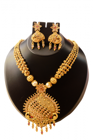 Antique Gold and Pearl 4 line Designer Set
