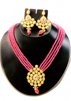 Designer Fuscia Color Crystal Set