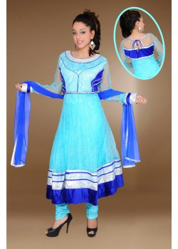Aqua/Blue Anarkali dress