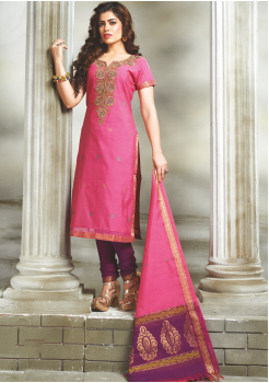 Pink with Purple Color Designer Party Wear Suit