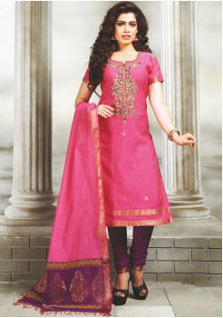 Pink Color Designer Party Wear Suit