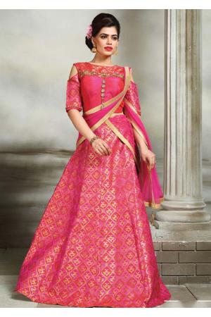 Rani Pink Color Designer Lehenga Choli