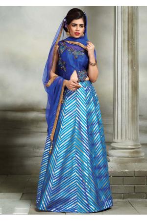 Royal Blue Color Designer Lehenga Choli