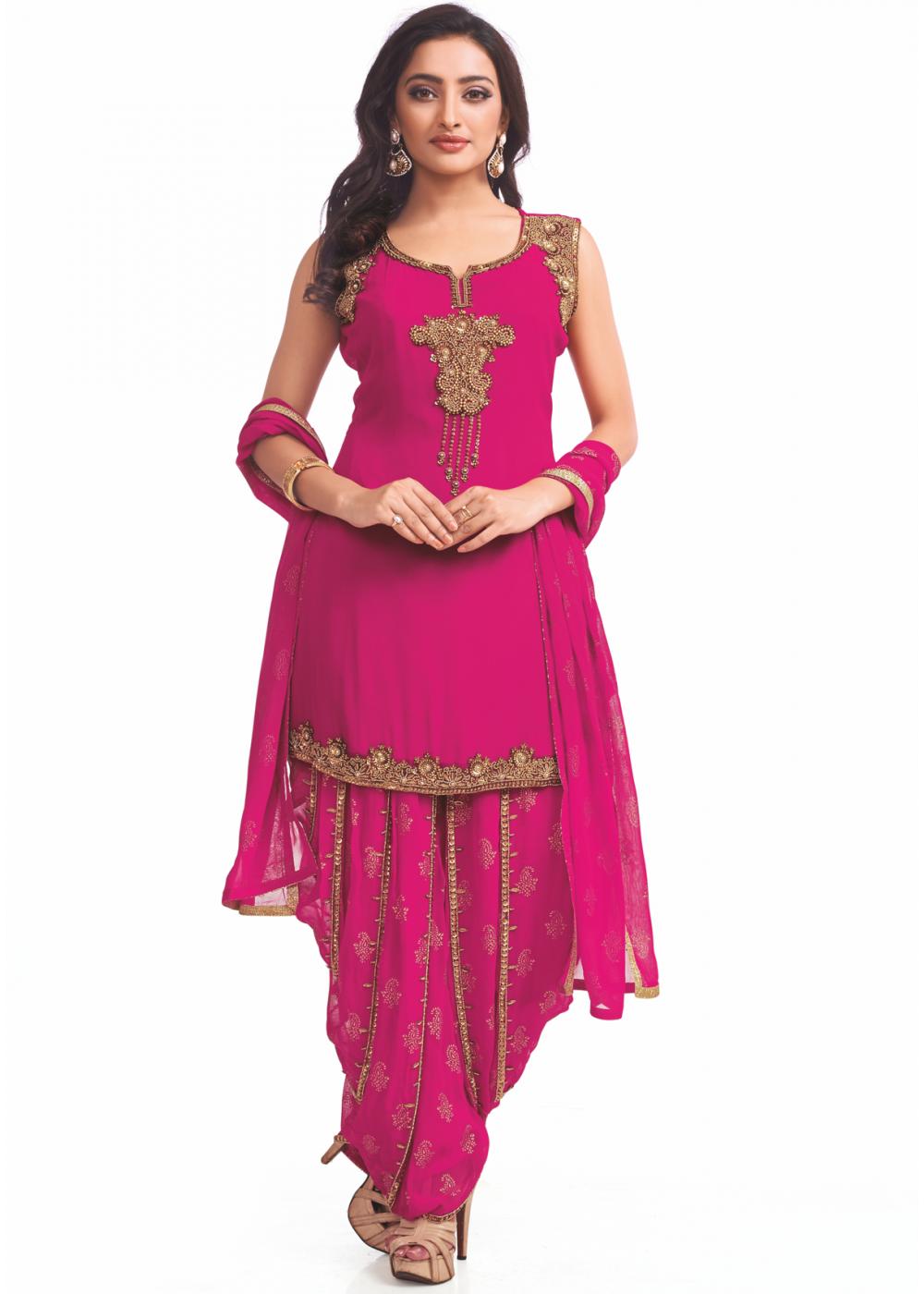 Dark Pink Color Designer Party Wear Suit