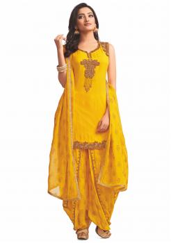 Yellow color Party Wear Designer Suit