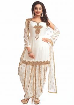 White color  Party Wear Designer Suit