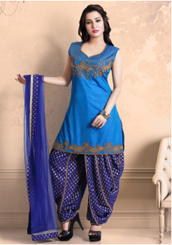 Sea Blue  Color Georgette Designer Salwar Suit