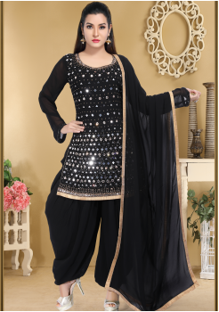 Black Color Designer Viscose Salwar suit