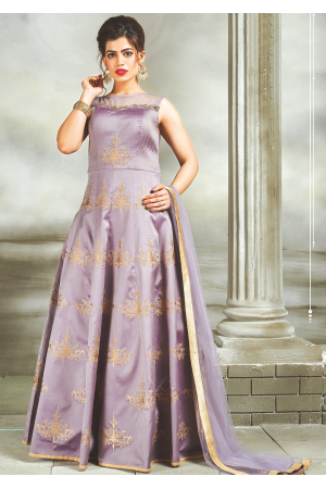 Navy Blue Color  Party Wear Designer Gown