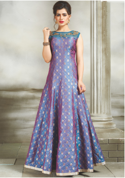 Blue Color  Party Wear Designer Gown
