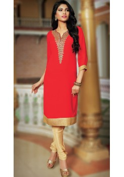 Red and Gold Kurti