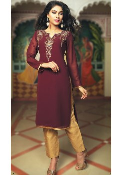 DARK PINK COLOR KURTI