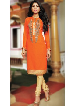 ORANGE COLOR KURTI