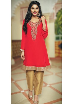 RED COLOR KURTI