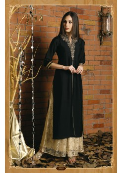 BLACK COLOR DESIGNER SILK KURTI