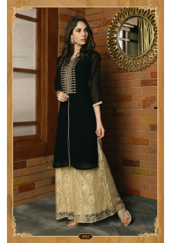 BLACK COLOR WITH WORK DESIGNER KURTI