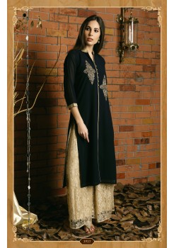 BLUE COLOR WITH WORK DESIGNER KURTI