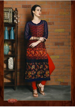 MULTI COLOR COTTON ATTRACTIVE DESIGNER KURTI