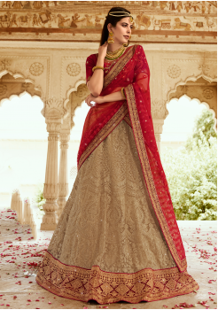 Maroon with Tan Color Designer  Lehenga