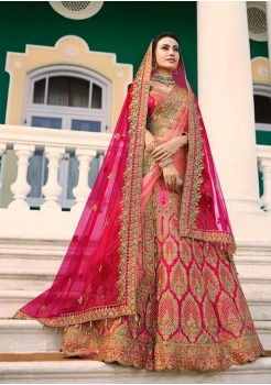 Pink Color Designer Satin Silk Lehenga Choli