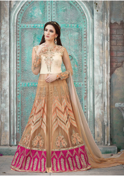 Cream Color Georgette Designer party wear gown