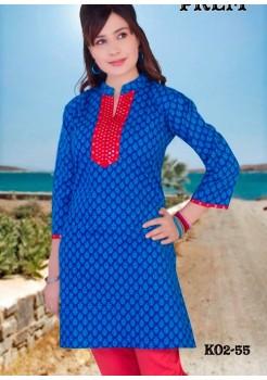 Blue Printed Kurti