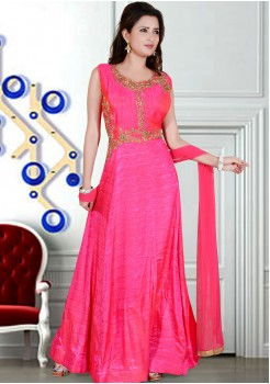 DARK PINK COLOR DESIGNER GOWN