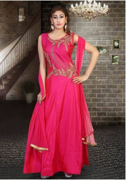 DARK PINK COLOR DESIGNER READY MADE GOWN