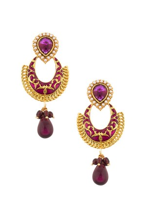 Purple dangler earrings
