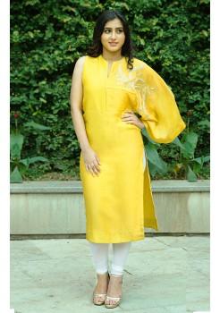 Yellow kimono style kurti
