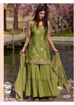Designer Green Color Sharara