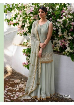 Designer Light Grey Color Sharara