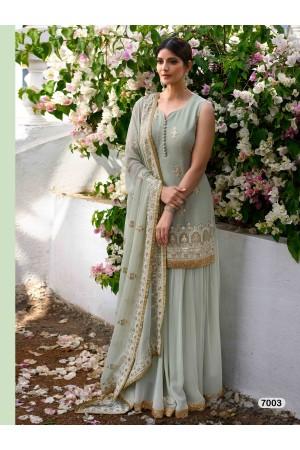 Designer Light Grey Color Sharara