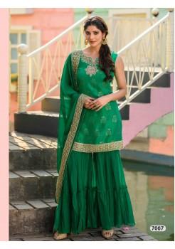 Designer Dark Green Sharara